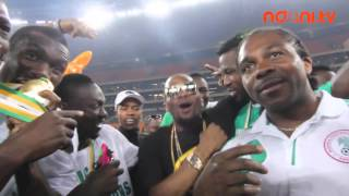 AFCON 2013 Diaries Dbanj Celebrates with Super Eagles