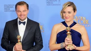 From the red carpet to the ballroom, the 'Titanic' stars gushed over each other all night.