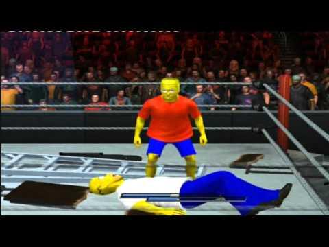 Homer vs Bart Simpson TLC SvR 2011