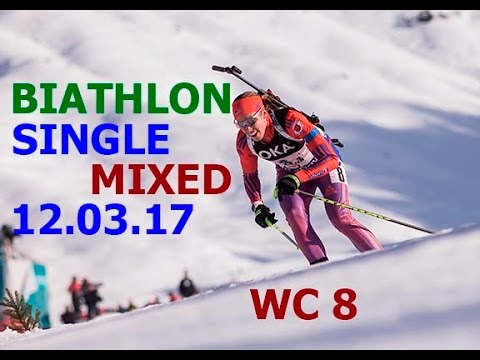 BIATHLON SINGLE MIXED RELAY 12.03.2017 World Cup 8 Kontiolahti (Finland)