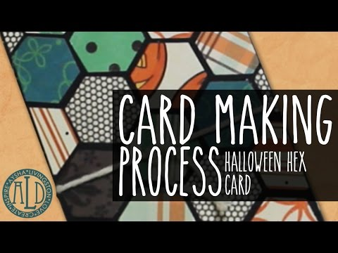 Cardmaking: Halloween Hex Card
