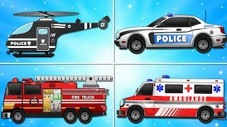 Video Fire Truck Police Car Emergency Vehicles and Ambulance Garage Car for Kids MP3, 3GP, MP4, WEBM, AVI, FLV Juli 2017
