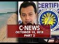 News (October 15, 2018) PART 2