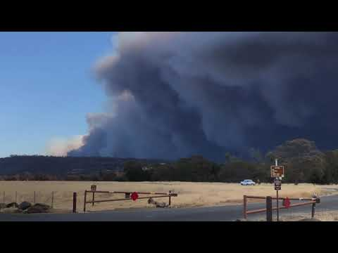 Butte County Camp Fire from Chico at 11:30 am