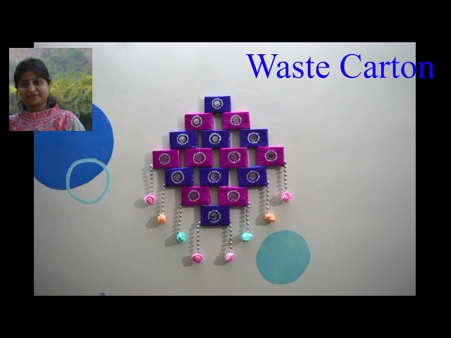 Diy simple method to make wall hanging best out of waste for Best out of waste wall hanging images