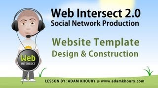 1. Social Network Website Building Tutorial Series Intro and Template Production