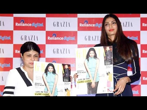 Athiya Shetty Goes Hot At The Cover Launch Of Graz