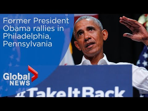 Former President Barack Obama rallies for Pennsylvania Democrats