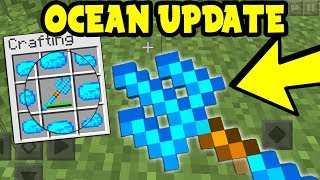 NEW OCEAN UPDATE Trident in Minecraft PE (MCPE 1.3 Trident Addon)