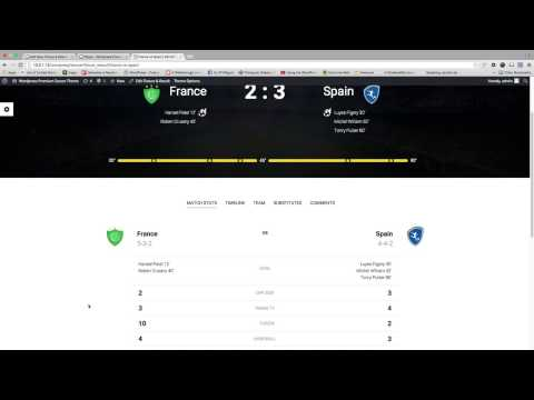 WPSoccer - Fixtures And Results Video Tutorial
