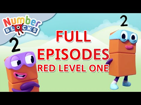 Numberblocks - Red Level One | Full Episodes 13-15 | #HomeSchooling | Learn to Count #WithMe