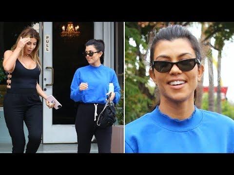 Kourtney Kardashian Flashes A Smile When Asked About Marrying Younes Bendjima