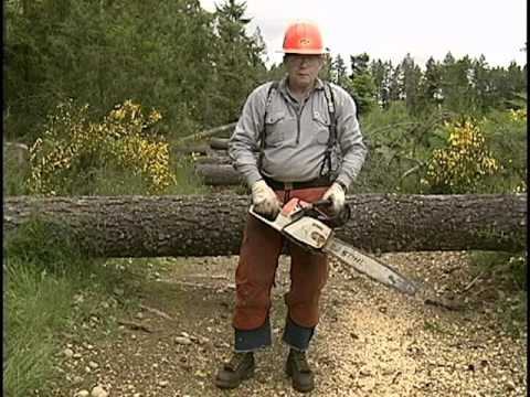 Chainsaw - Danger : Chain Saw - Washington State Dept. of Labor and Industries 2008 - Video V1295 - Covers the safe use of chain saws, appropriate PPE and how to do an ...