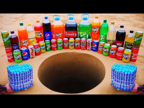 Fanta, Coca Cola, Sprite, Pepsi, Mirinda, Schweppes and Many Other Sodas vs Mentos Underground