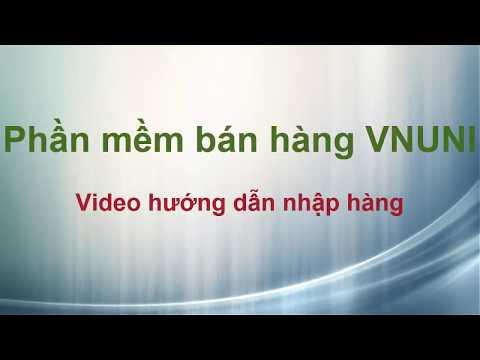 Phần mềm bán hàng VNUNI