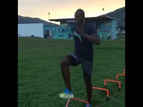 【分析してみよう!】人類最速ボルト選手のミニハードルドリル
