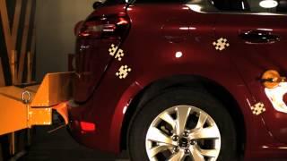 Bumper test trasero Citroën C4 Picasso en CESVIMAP
