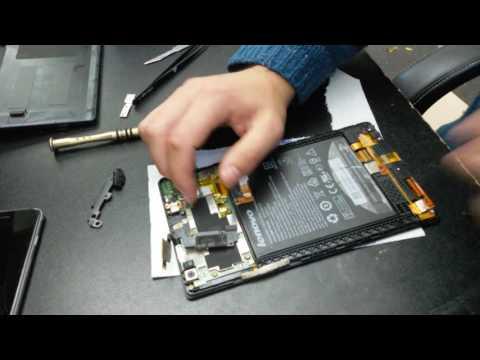 Lenovo Tab 2 A8 disassembly teardown take apart touchscreen change tutorial