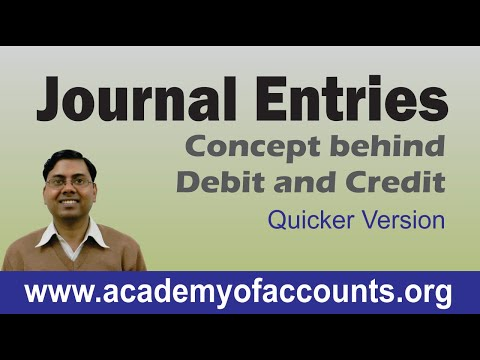 Journal Entries Accounting (Concept) ~ New Quicker Version