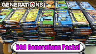 With Pokemon Generations going out of print not long ago, we feel it's time to open 500 Pokemon generations booster packs...
