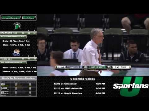 Men's Basketball: USC Upstate vs. Tennessee State Highlights and Post Game 11-30-13
