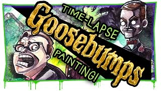 GOOSEBUMPS IS BACK! | Movie inspired painting
