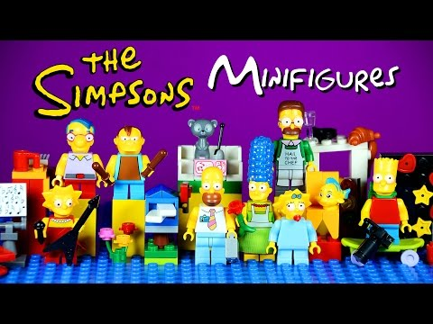 The Simpsons LEGO KnockOff Minifigures Set 2 Homer Marge Lisa Bart & Maggie