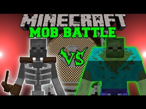 MUTANT SKELETON VS. MUTANT ZOMBIE - Minecraft Mob Battles - Arena Battle - Mutant Creatures Mod