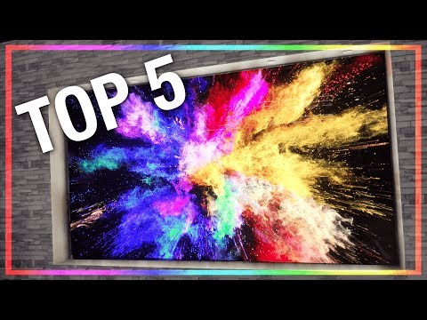 The Top 5 Coolest New TV's from CES 2018! (видео)