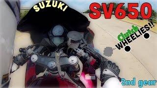 9. Suzuki SV650 WHEELIES