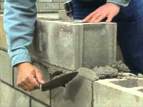 Construction Building Blocks Building a Concrete Block