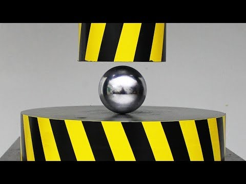 EXPERIMENT HYDRAULIC PRESS 100 TON Vs METAL BALL