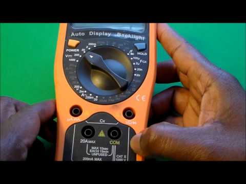 how to measure ac voltage with a multimeter