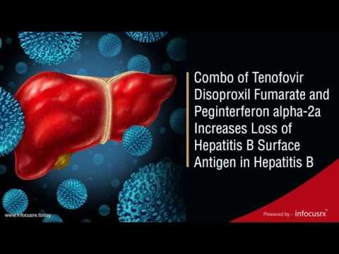 Combo of Tenofovir Disoproxil Fumarate and Peginterferon α-2a Increases Loss of HBsAG in Hepatitis B