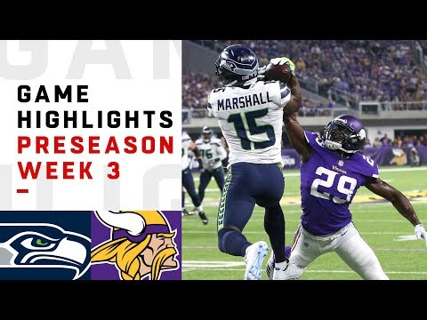 Seahawks vs. Vikings Highlights | NFL 2018 Preseason Week 3