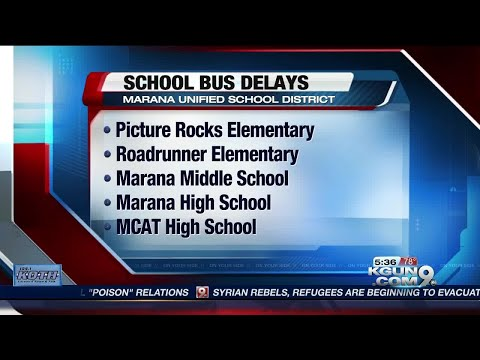 Road closures may cause school bus delays Monday