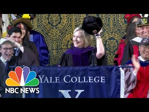 Video Hillary Clinton Sports Russian Hat During Yale Speech | NBC News download in MP3, 3GP, MP4, WEBM, AVI, FLV January 2017