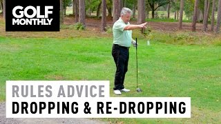 ► In this exclusive Rules of Golf video, Golf Monthly's Jeremy Ellwood explains the correct procedure to follow when dropping your ball, and the situations w...