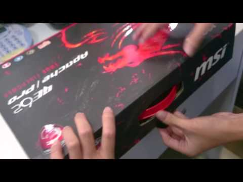 MSI GE62 6QC Apache 205MY - Unboxing