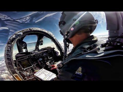 Cockpit video from an A-10 Thunderbolt...