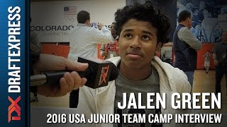 Jalen Green Interview at USA Basketball Junior National Team Camp