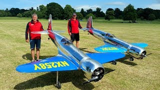 EMCOTEC Team Pilots Jan Hirschmann and Harald Jezek flying their selfmade Hughes H-1 Air Racer at the Weston Park Model Air Show 2017 Wingspan: 3 mEngine: Moki 5 cyl radial 250ccWeight: 23.9 kgRead something about the original aircraft: https://www.google.de/url?sa=t&rct=j&q=&esrc=s&source=web&cd=2&cad=rja&uact=8&ved=0ahUKEwio_LOd39vUAhUNIlAKHUr5DSYQFggpMAE&url=https%3A%2F%2Fen.wikipedia.org%2Fwiki%2FHughes_H-1_Racer&usg=AFQjCNFtVb2u4NYZLO7NOrWYMgHgM4aCMg------------------------------Hero's Theme by Twin Musicom is licensed under a Creative Commons Attribution license (https://creativecommons.org/licenses/by/4.0/)Source: http://www.twinmusicom.org/song/280/heros-themeArtist: http://www.twinmusicom.org