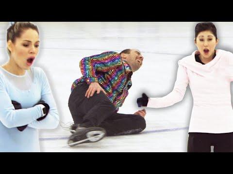 Regular People Try Olympic Figure Skating (With Kristi Yamaguchi) (видео)
