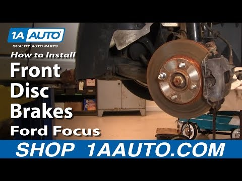 How To Install Replace Front Disc Brakes Ford Focus 00-04 1AAuto.com