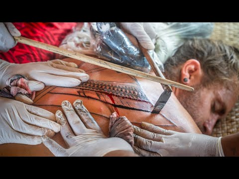 Most PAINFUL experience of my life 😫 Samoan Traditional TATTOO  (Expedition Drenched S01 Ep. 22)
