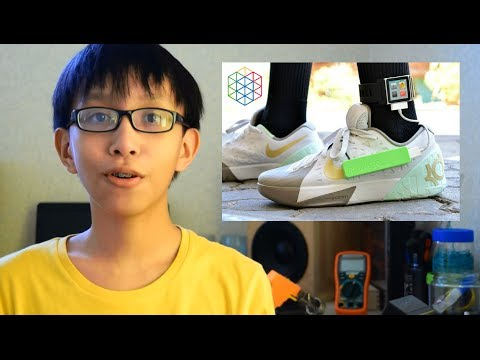 0 A Young Scientist Transforms a Nike KD Sneaker Into A Smart Shoe The Generates Power