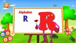 Letter R Song - 3D Animation Learning English Alphabet ABC Songs For children