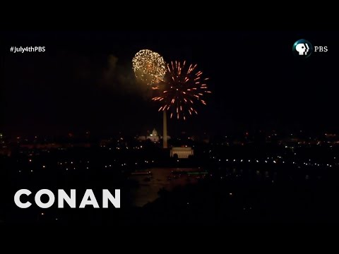 Conan O Brien Proves PBS Faked Their 4th of July