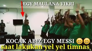 Video ngakak!! Egy maulana vikri saat memimpin lakukan gerakan yel yel timnas indonesia u19 MP3, 3GP, MP4, WEBM, AVI, FLV Oktober 2017