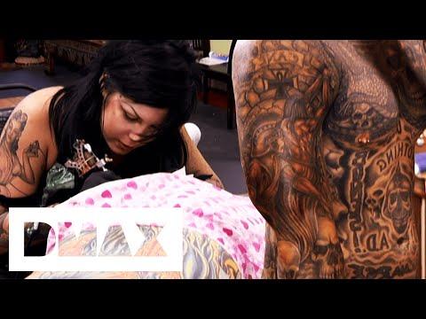 Kat Von D Adds Tattoo To Husband's Tattoo Suit | Miami Ink